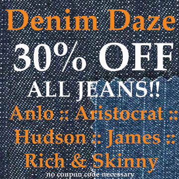 30% off denim at rellik.com