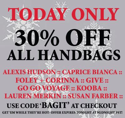 30% off handbags at rellik