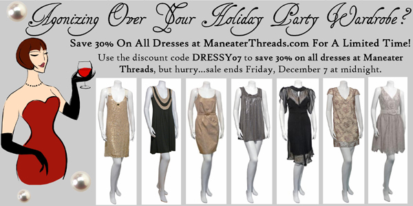 maneater Threads Dresses 30% off geren ford mike and chris coupon code